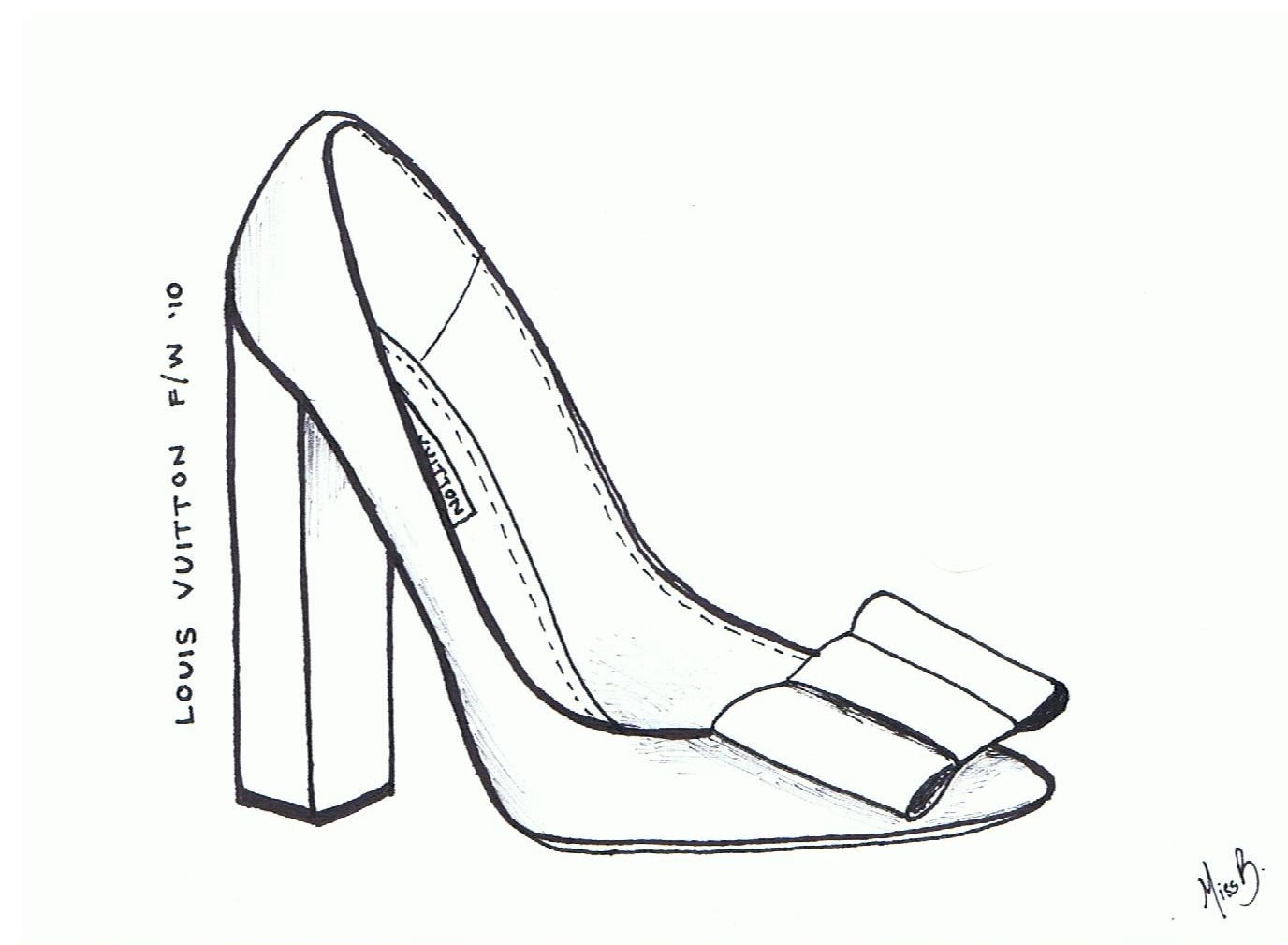 Line Drawing Shoes : A girl style louis vuitton